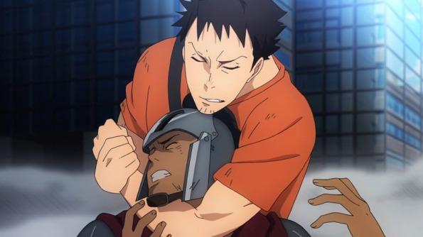 Our otaku hero takes out a centurian.
